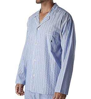 Polo Ralph Lauren Tall Man Woven Cotton Long Sleeve Pajama Top (RY25RT) a7ddf39a0