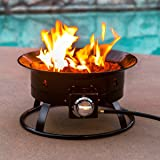 Portable Propane Fire Pit Stainless Steel, 58000 BTU