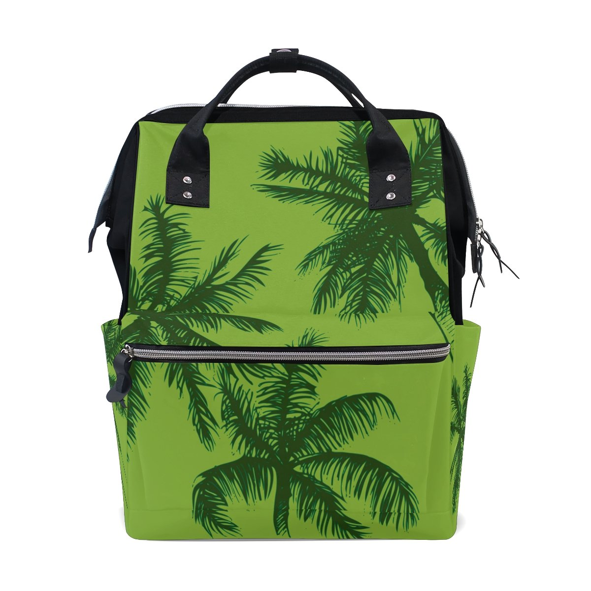 JSTeLノートパソコンカレッジバッグ学生旅行Palm Trees and Tropical Leaves学校バックパックショルダートートバッグ   B078MXGQLB
