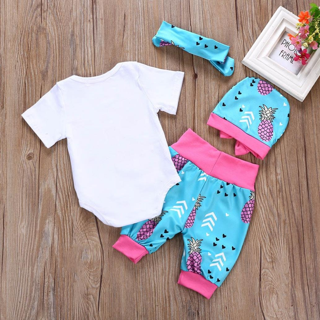 Shorts Headband Hat Outfit Kehen Newborn Infant Baby Girl 4pc Summer Clothes Happy First Fathers Day Romper
