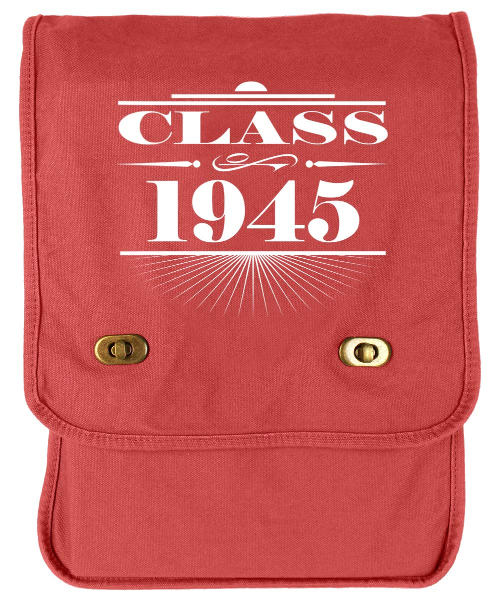 Tenacitee Art Deco Class of 1945 Red Brushed Canvas Messenger Bag