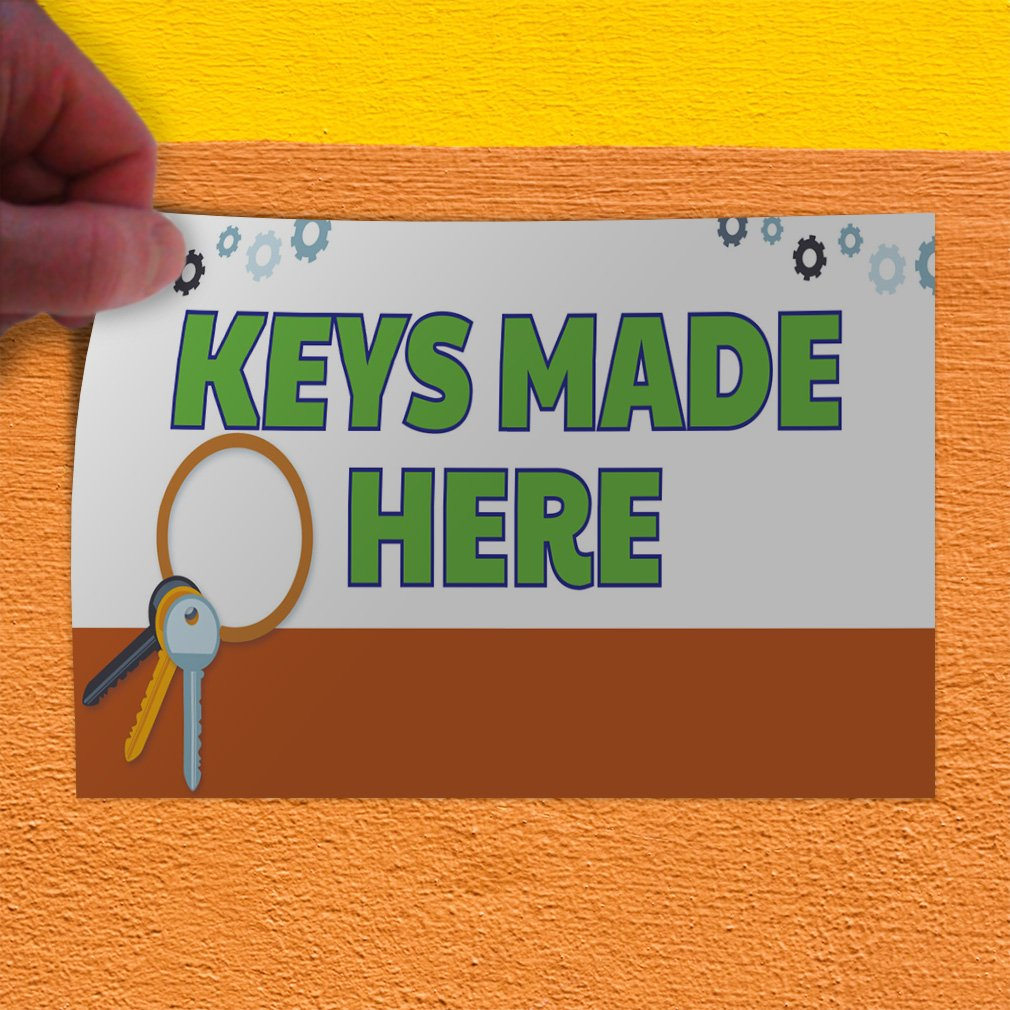 Decal Sticker Multiple Sizes Keys Made Here #1 Style A Business Banners Keys Outdoor Store Sign White 52inx34in Set of 2