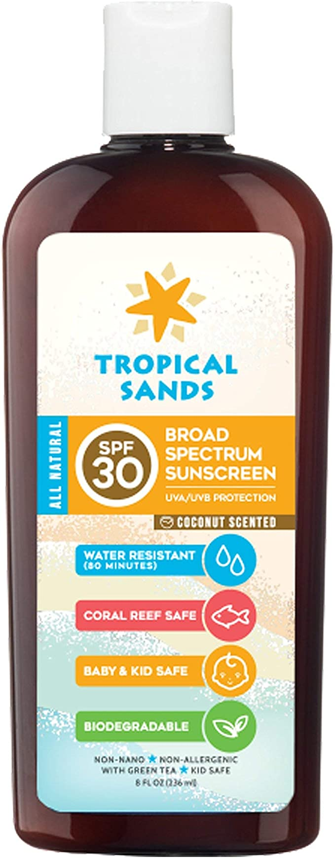 Tropical Sands Scented All Natural Biodegradable Mineral Sunscreen ...