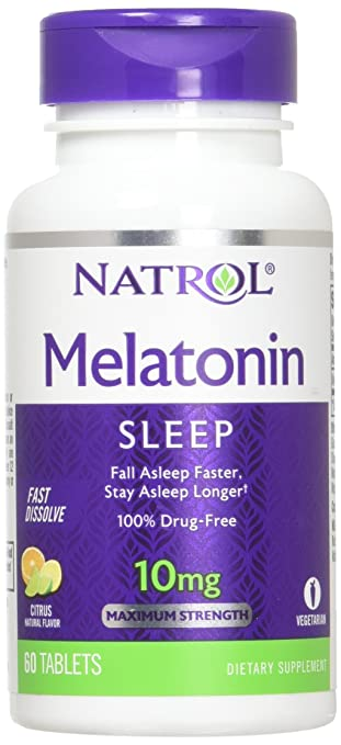 Image Unavailable. Image not available for. Color: Natrol Melatonin CTRS Pnch 10mg