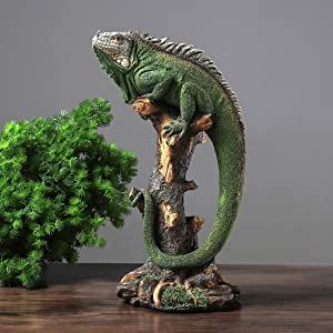 14 Inch Lizard Statue Resin Sculpture Decor Figurines for Home Decor Accents, Living Room Bedroom Office Decoration - Animal Sculptures Collection for Lizard Lovers