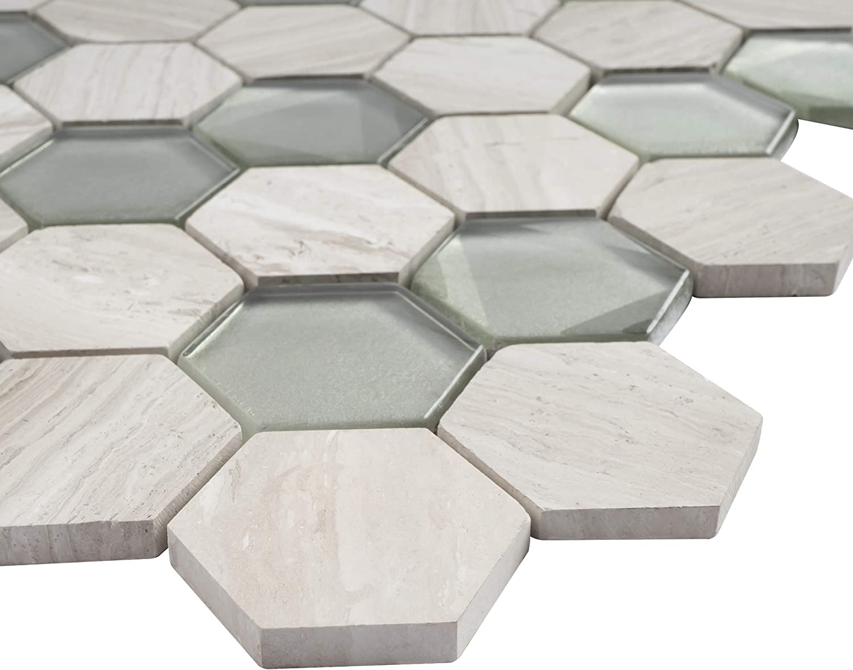 - Amazon.com: TPHANG-03 Wooden Light Gray Mix Grey Glass 2