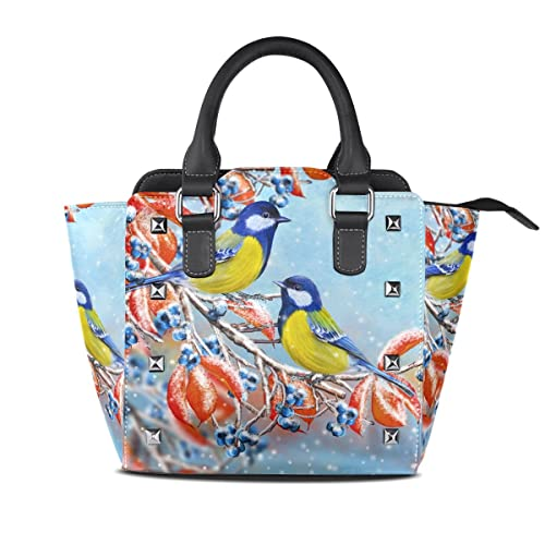 56197950dbc9 Image Unavailable. Image not available for. Color  Women s Top Handle  Satchel Handbag Small Bird Branch ...