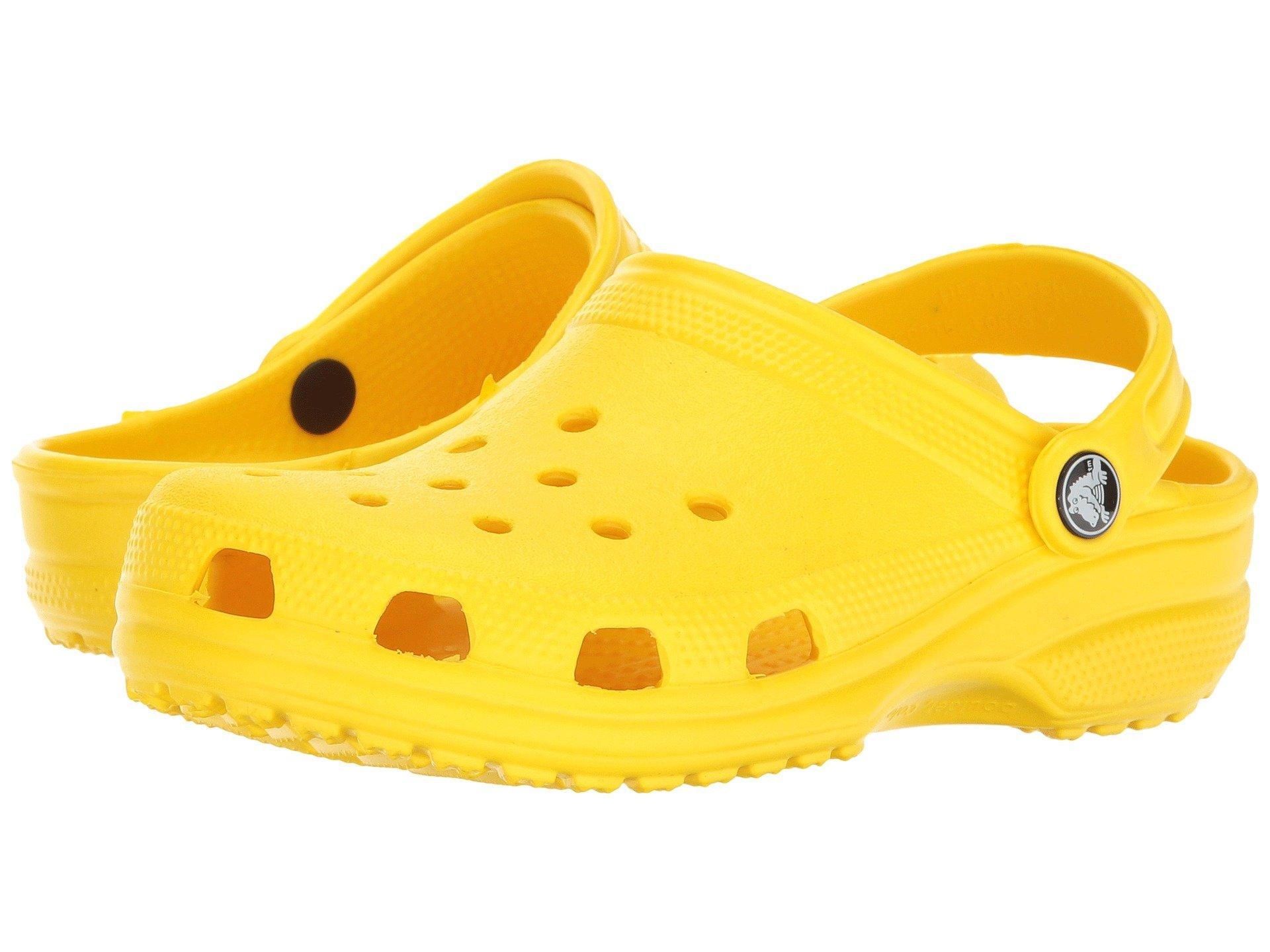 Crocs Unisex Classic Clog, Lemon, 6 US Men/8 US Women