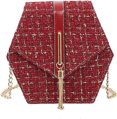 Ladies Women Girls Messenger Bag Shoulder Bag Chain Wool Tassel Small Square Bag
