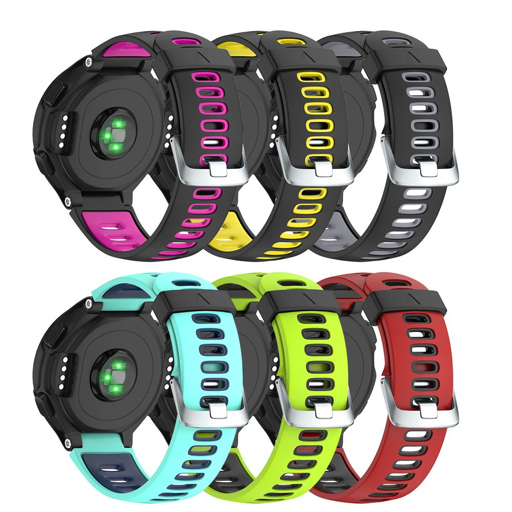 NotoCity Silicone Watch Band Replacement Solft Silicone Strap Compatible Forerunner 230/220/ 235/620/ 630/ 735XT-6PCS Set by NotoCity (Image #1)