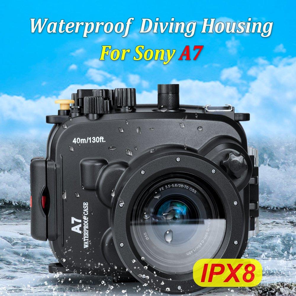 Sea frogs 40m/130ft 水中カメラケース ソニー 防水ケース 防水ハウジング 保護ケース 防水プロテクター 水中撮影 B0771JVMC9 Sony A7  Sony A7