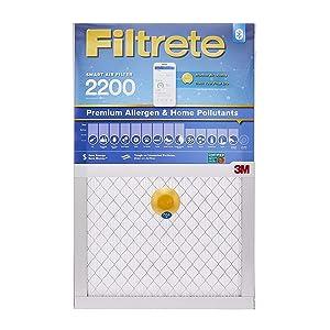 Filtrete 16x25x1 Smart Replenishable AC Furnace Air Filter, MPR 2200, Premium Allergen & Home Pollutants, 2-Pack