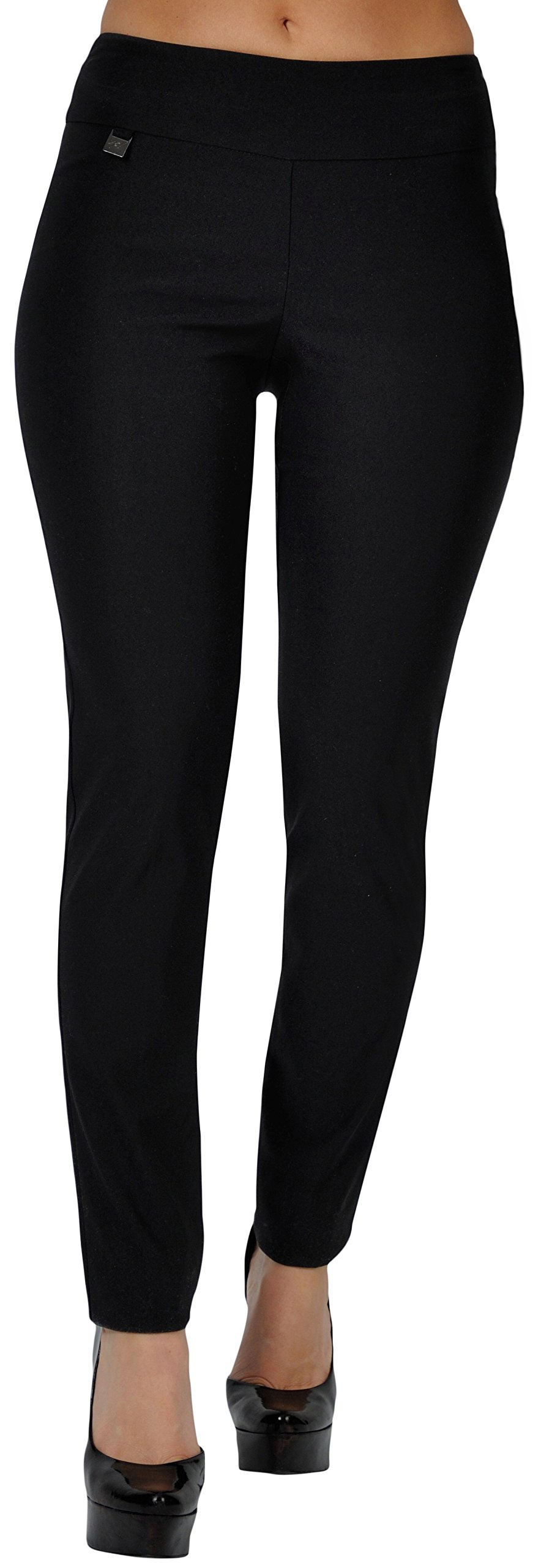 UP! Pants UP Womens Flatten and Flatter Skinny Legs Inseam 31'' Style 64562 Size 12 Black