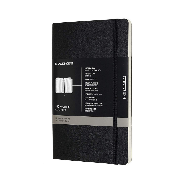 Amazon.com: Moleskine Cuaderno profesional, grande, negro ...