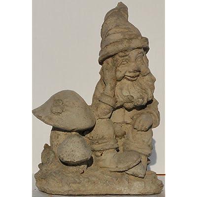 Concrete Collective Dreamy Gnome Garden Statue (unpainted) : Garden & Outdoor