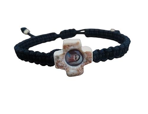 Amazon Com Medjugorjestonegifts Virgin St Mary Cross Bracelet With