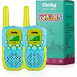 Obuby Toys for 3-12 Year Old Boys Girls Walkie Talkies for Kids 22 Channels 2 Way Radio Gifts with Backlit LCD Flashlight 3 K
