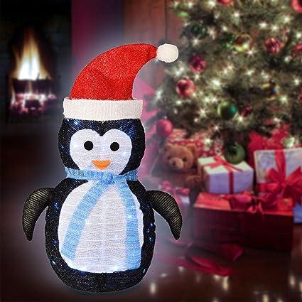 Amazon Com Ke Yu Christmas Decorations Lights Indoor Outdoor Fabric Penguin Battery Operated Lights Christmas Lights For Home Garden Party Yard Decor Garden Outdoor