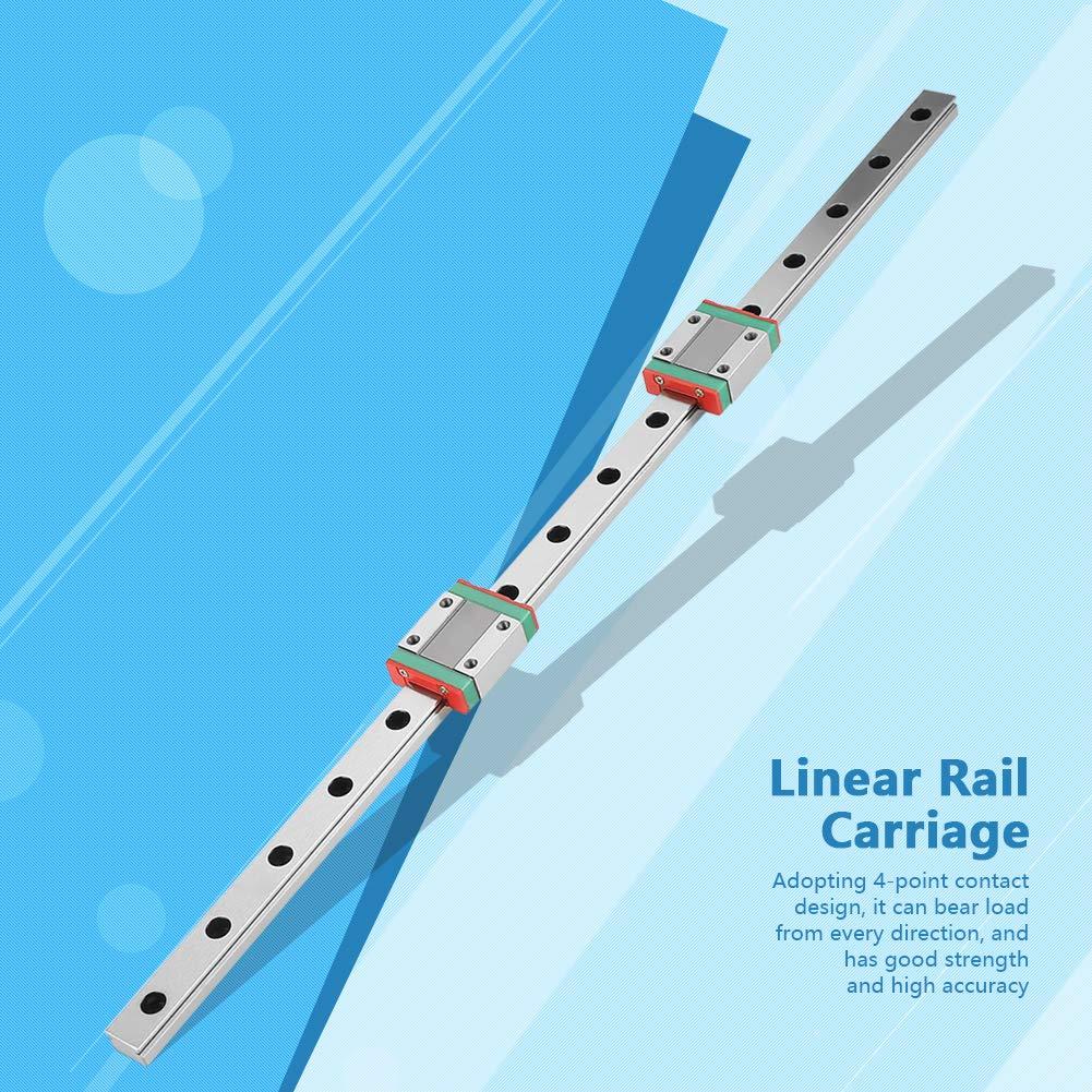 2pcs MGN12B Glisser Blocs Haute Qualit/é 1pc 400mm MGN12 Miniature Lin/éaire Rail Guide Rail 12mm Largeur