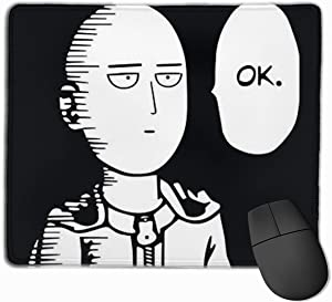 vaweyaw Mouse Pad with Designs, Anti Slip Cool One Punch Man Mouse Mat for Desktops, Computer, PC and Laptops, Customized Mouse Pad for Office and Home