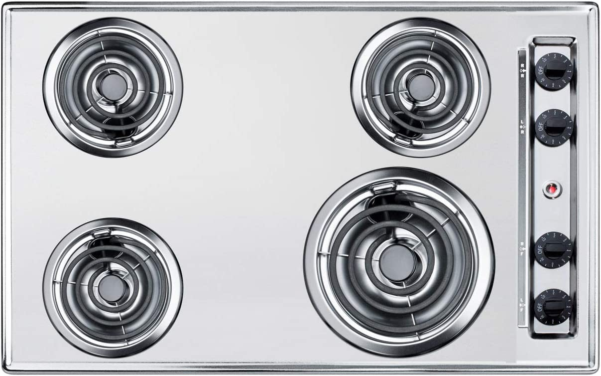 Summit ZEL05 30 Inch Wide 4 Burner Electric Cooktop