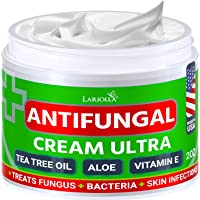 Natural Antifungal Cream - Made in USA - Effective Treatment for Toenail Fungus, Athletes Foot, Ringworm Treatment for…