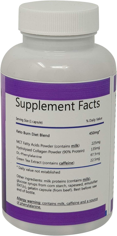 Keto Burn Ketogenic Diet Aid Appetite Suppressant Weight Loss Slimming Pills 90 Capsules Per Pot 1