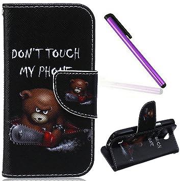 EMAXELERS - Funda para Samsung Galaxy S4 Mini, con purpurina, con tapa, diseño con mariposas, tipo libro, con tarjetero, piel sintética, suave, cierre ...
