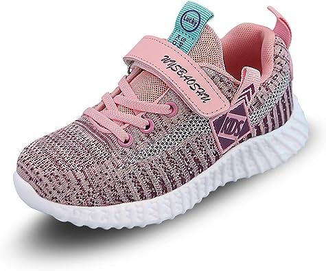 YUHUAWYH Niños Niñas Zapatillas de Deporte Moda Tenis para Unisex Niños Zapatillas de Correr Transpirables para Niñas Ligeras y Transpirables Zapatillas Deportivas: Amazon.es: Zapatos y complementos