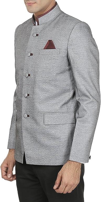 INMONARCH Mens Green Mandarin Collar Jacket Bandhgala NJ0142