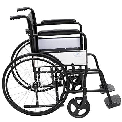 Amazon.com: Silla de ruedas Gymax ligera, plegable ...