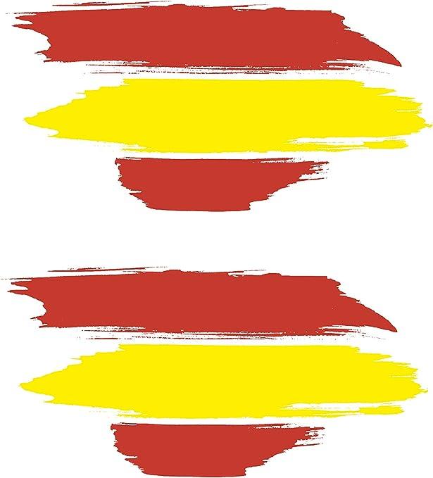 BC Corona ADH06593 2 Pegatinas Bandera ESPAÑA Pincel Vinilo 10 X 4 ...