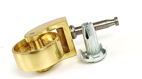 Latón Castor y empuje en ruedas de vaso. 25 mm a 38 mm de latón