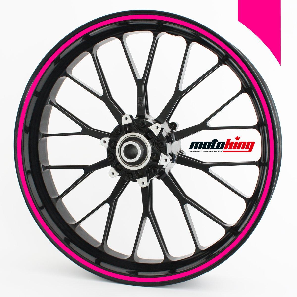 Adhesivos Motoking para llantas 360 °, colores de neón/rueda completa/desde 15 hasta 18/color y ancho opcionales Wandkings