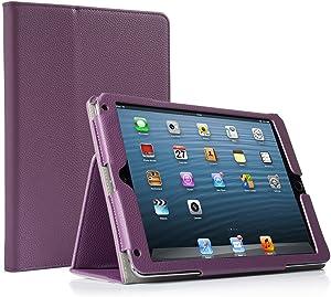 RUBAN Case Compatible with iPad 9.7 Inch 2018/2017/iPad Air 2/iPad Air - [Corner Protection] - [Scratch-Resistant] Premium PU Leather Folio Smart Stand Cover w/Auto Sleep/Wake, Purple