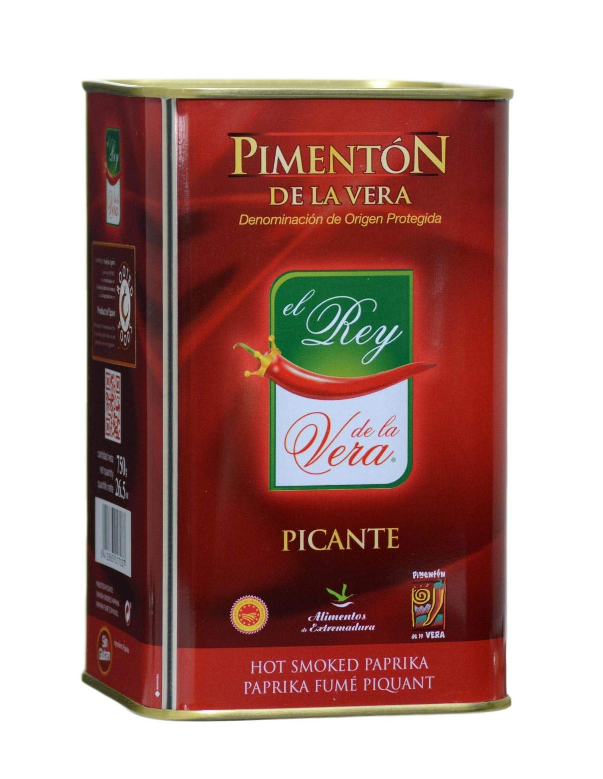 Spicy Hot Smoked Paprika (Pimenton) from Spain 750g