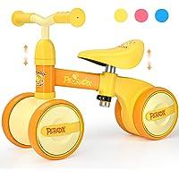 Peradix Bicicleta Sin Pedales para Niños y Niñas,Bici Sin Pedales de Manillar y Sillín Ajustables para Niño 1-3 Año…