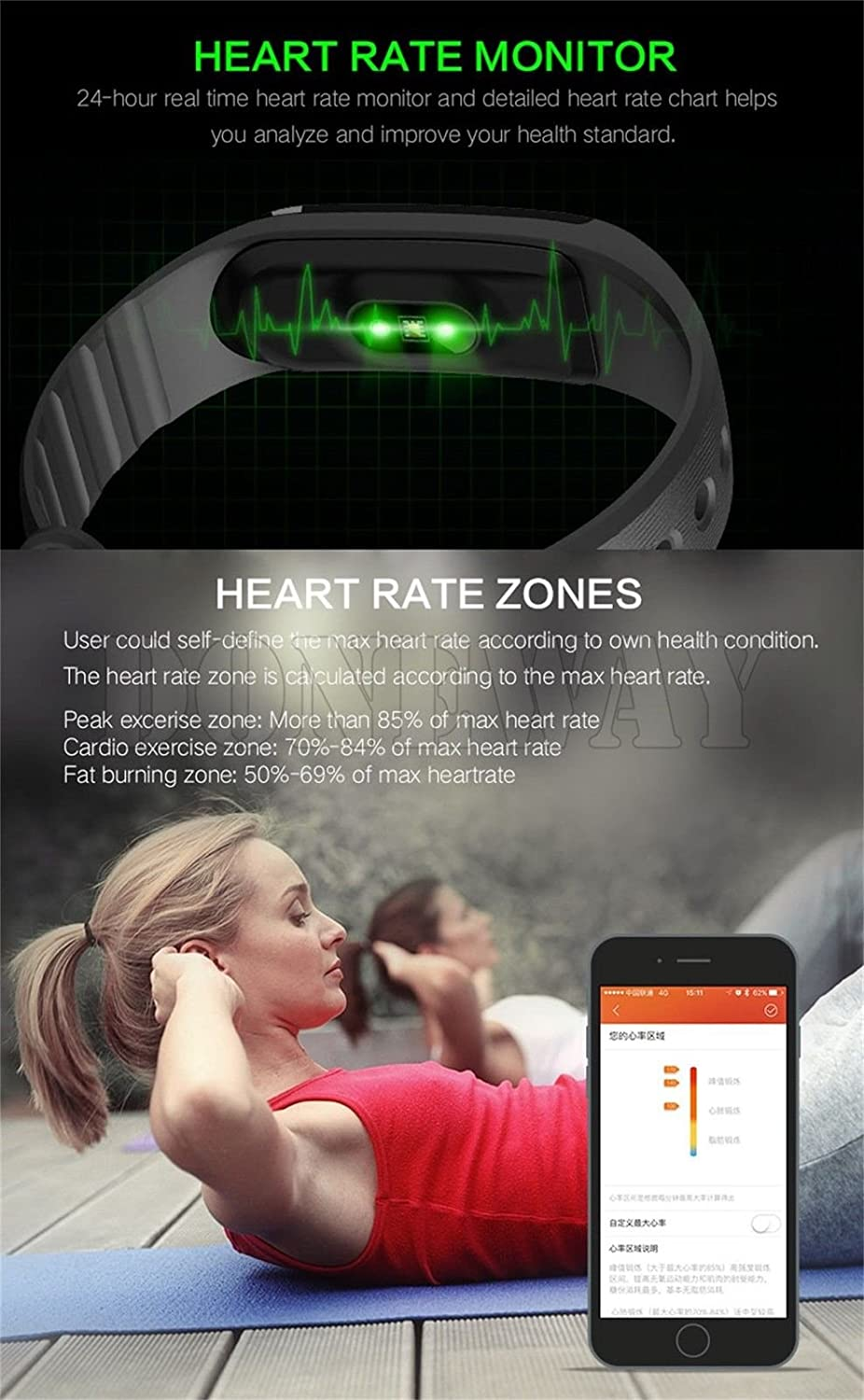 Amazon smart band heart rate monitor fitness activity tracker amazon smart band heart rate monitor fitness activity tracker touch screen watch step walking sleep counter wireless wristband pedometer exercise geenschuldenfo Choice Image