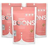 Booby Boons Lactation Cookies, Chocolate Chip, Pack of 3 Bags - 12 Cookies per 6oz Bag - Made with Gluten Free, Soy Free, Fen