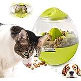Wowcam 自動給餌器 ペットおもちゃ 猫犬用 餌入れ おやつボール ペット食器 ペットフィーダー 給餌器 おもちゃ 歯磨き 早食い防止 知育玩具 水洗い可能 小型犬 中型犬