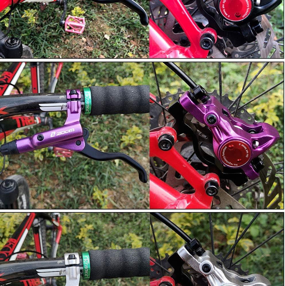 6 Colores Opcional QYWSJ Juego de Frenos de Disco hidr/áulico Delanteros y Traseros para Bicicleta de monta/ña MTB BMX 800 mm y 1400 mm