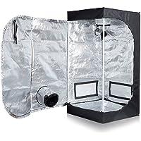 """BloomGrow 16''x16''x48"""" 24''x24''x48'' 32''x32''x63'' 48''x24''x60'' 48''x24''x72'' 48''x48''x78'' 96''x48''x78'' Hydroponic 600D High Reflective Mylar Waterproof Oxford Cloth Indoor Grow Tent Dark Room w/Plastic Corner Floor Tray for Indoor Planting Growing"""