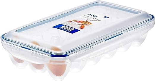Lock /& Lock Egg Storer for 18 Eggs Clear//Blue
