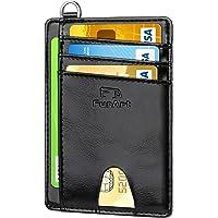 FurArt Crédito Billetera, Cartera Pequeña Tarjetero,8 Tarjetas,Billetera Minimalista con Bloqueo RFID para Hombre y…