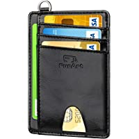 FurArt Tarjeta de crédito Titular de la Cartera, Delgado RFID Bloqueo Carpeta de la Tarjeta Minimalist para Hombres y…
