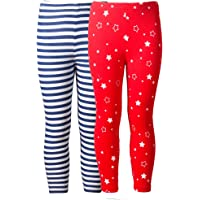 Naughty Ninos Girls set of assorted Stretch calf length printed capris for 2 to 14 years