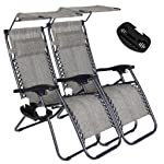 Artist Hand Zero Gravity Chair with Sunshade Canopy - Set of 2