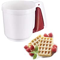 """Westmark 32142270 Flour-and Icing Sifter, 6"""" x 4"""" x 4"""", White/Red"""