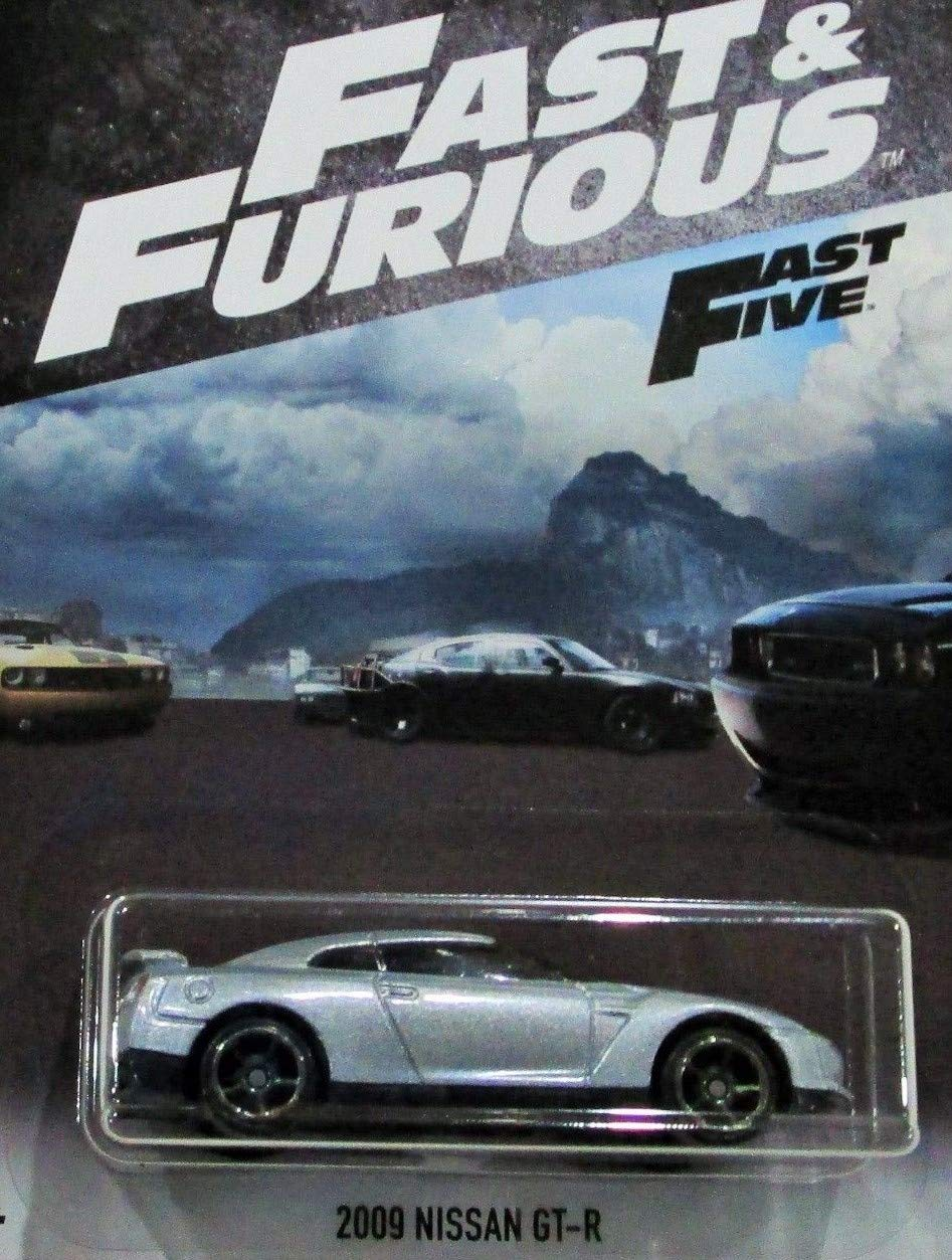 Hot Wheels Fast and Furious 2018 Series Silver 2009 Nissan GT-R DIE-CAST, 2009 Nissan GT-R