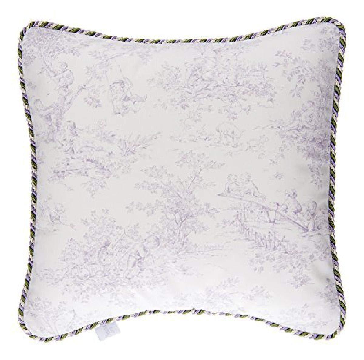 Lavender//White Glenna Jean Mfg Glenna Jean Penelope Pillow Toile Lavender 11315